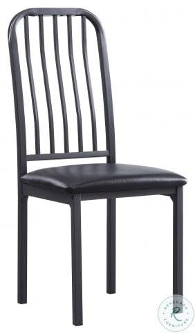 Tripp Silver Metal Side Chair Set Of 2