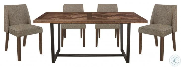 Leland Brown and Black Dining Room Set