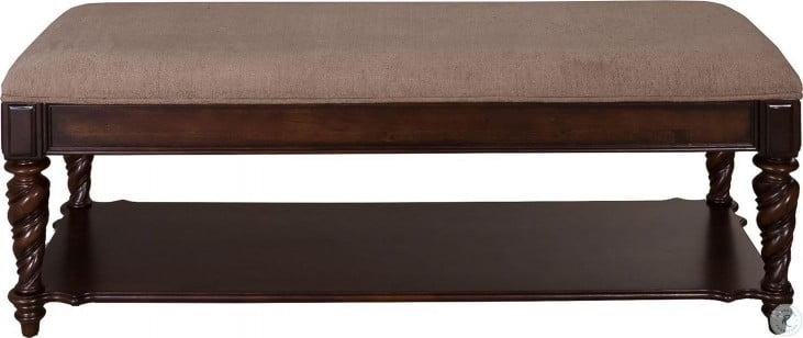 Arbor Place Brownstone Bed Bench