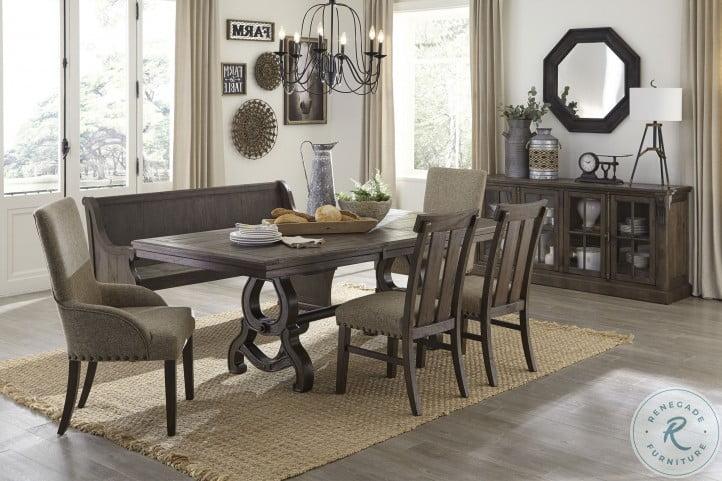 Gloversville Brown Extendable Dining Room Set