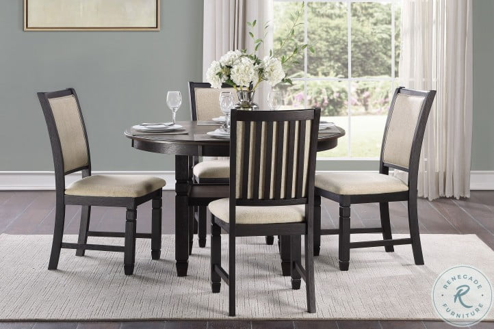 Asher Beige And Black Side Chair Set Of 2