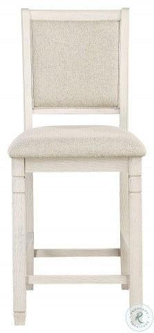 Asher Beige And White Counter Height Chair Set Of 2