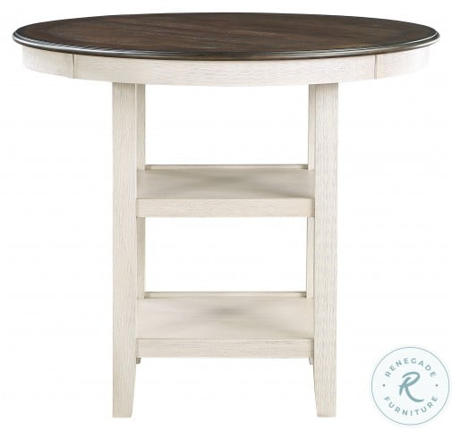 Asher Brown And White Counter Height Dining Table