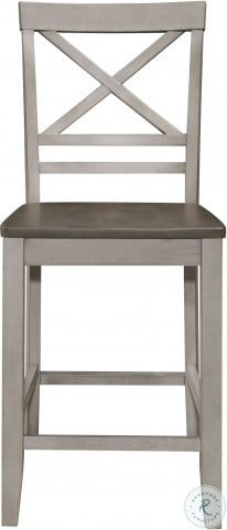 Brightleaf Brown And Light Gray Counter Height Chair Set of 2