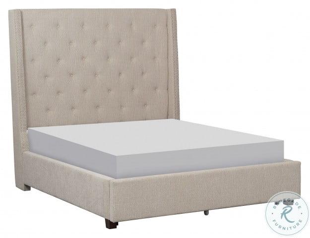 Fairborn Beige King Upholstered Platform Bed