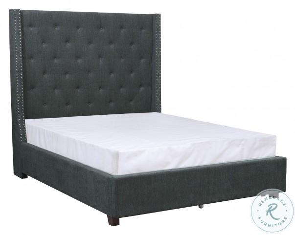 Fairborn Dark Gray Cal. King Upholstered Platform Bed