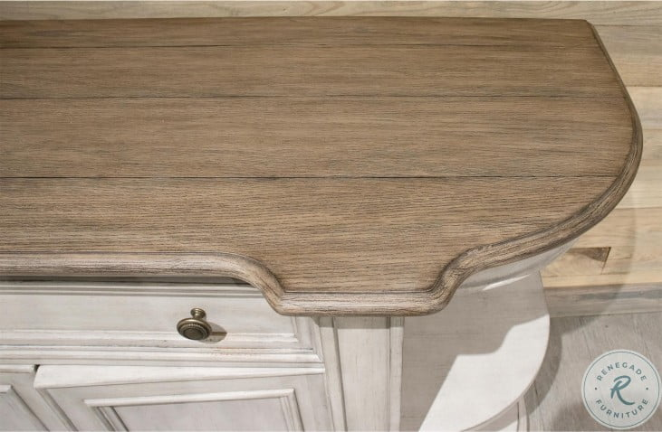 Southport Antique Oak And Smokey White Sideboard
