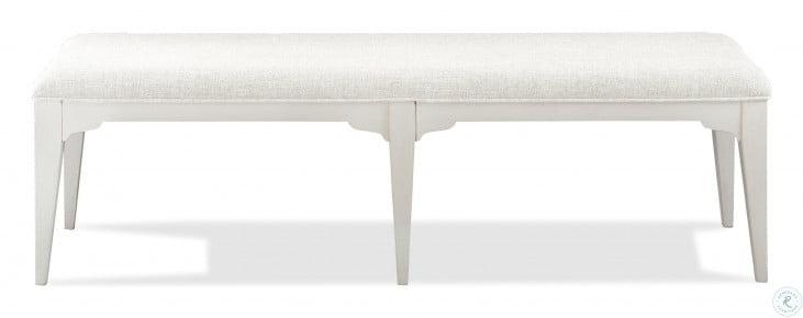 Myra Paperwhite Upholstered Dining Bench