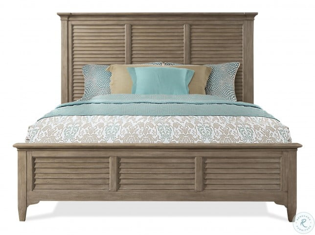 Myra Natural Queen Louvered Bed