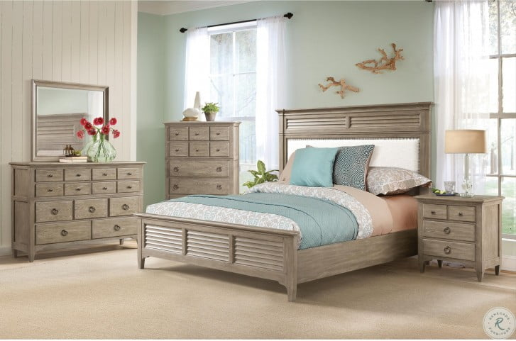 Myra Natural Queen Upholstered Bed