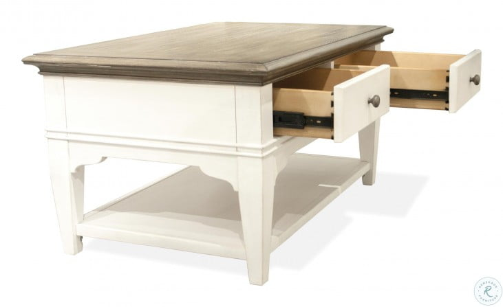 Myra Natural And Paperwhite Leg Small Cocktail Table