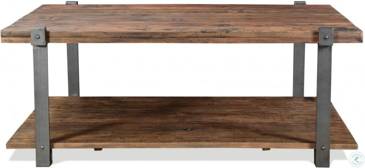 Quinton Patina Wood Rectangle Cocktail Table