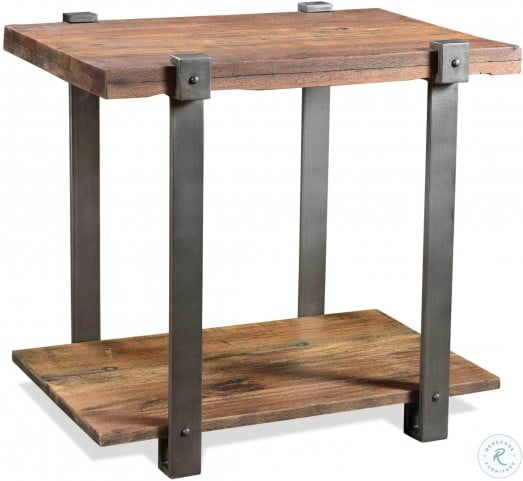 Quinton Patina Wood Rectangle End Table