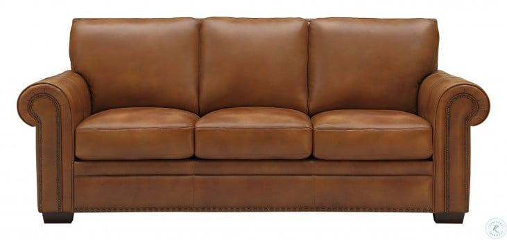 Laguna Tan Leather Sofa