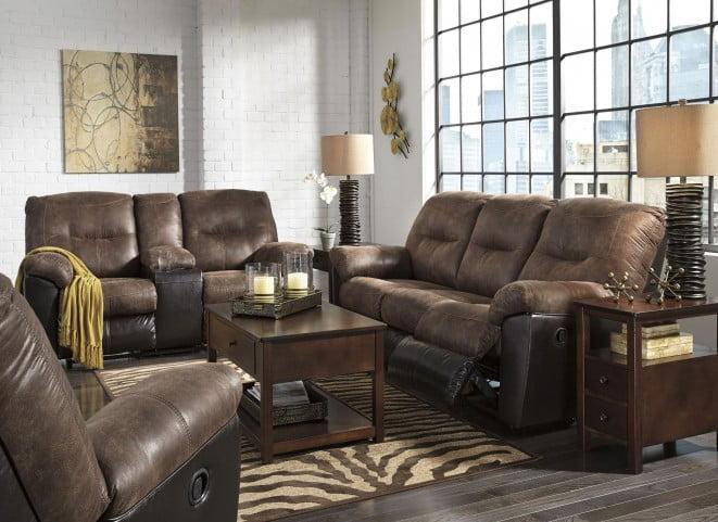 Follett Coffee Reclining Living Room Set