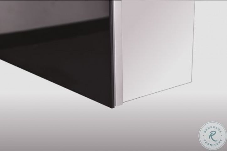 """Tall 60"""" Recessed Right Hinge Deep Mirror Cabinet"""