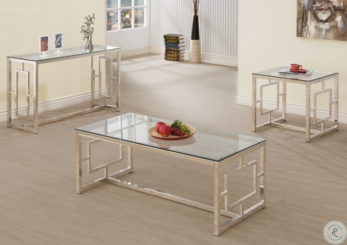 703737 Nickel End Table