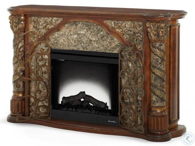 Villa Valencia Wood Top Fireplace