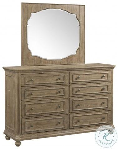 Madison Caramel Landscape Mirror