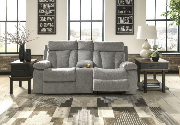 Mitchiner Fog Double Reclining Loveseat