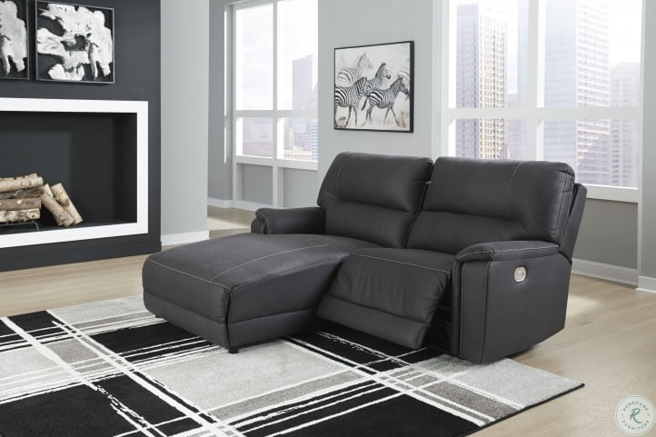 Henefer Midnight Power Reclining LAF Sectional