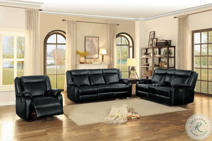 Jude Black Double Reclining Living Room Set