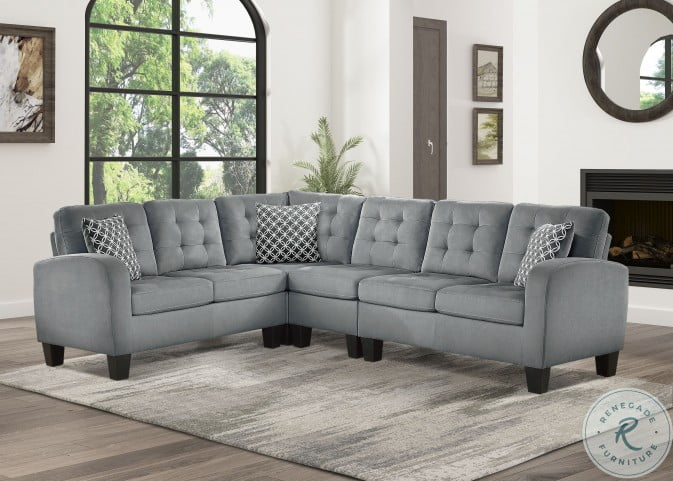 Sinclair Gray Reversible LAF Sectional