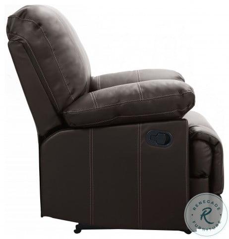 Cassville Dark Brown Double Reclining Living Room Set With Center Drop-Down