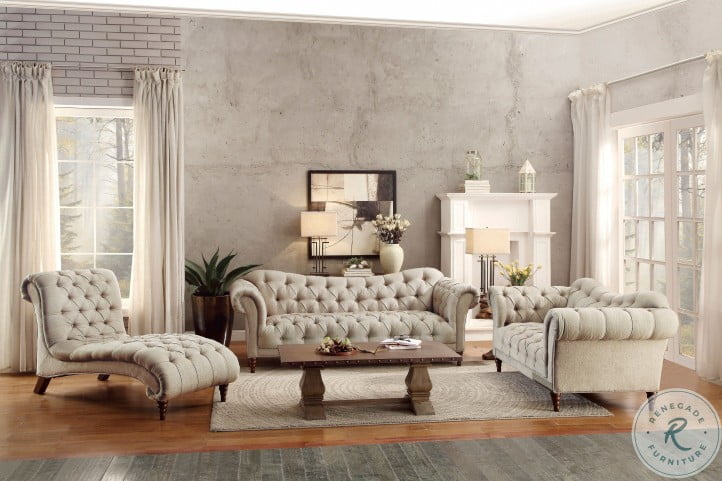 St. Claire Brown Fabric Living Room Set