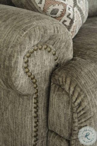 Lubec Taupe Power Reclining Modular Sofa Sectional