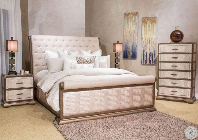 Valise Amazon Tan Gator Upholstered Dresser