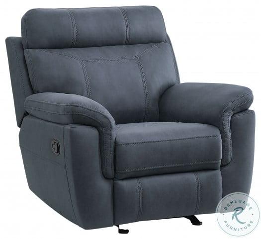 Clifton Blue Glider Reclining Chair