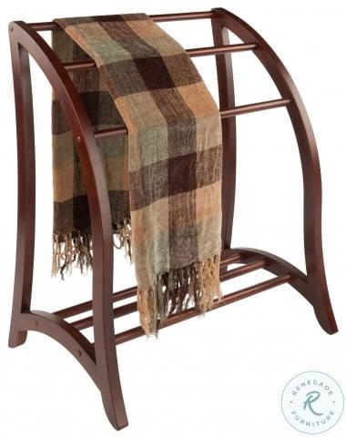 Betsy Walnut Blanket Rack