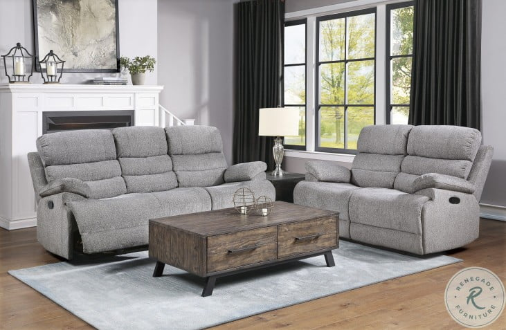 Sherbrook Gray Double Reclining Living Room Set