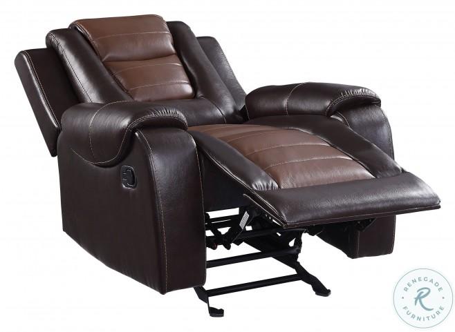 Briscoe Light And Dark Brown Glider Reclining Chair
