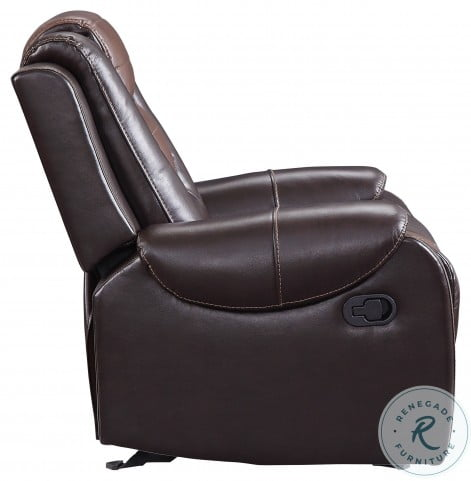 Briscoe Light And Dark Brown Double Reclining Living Room Set