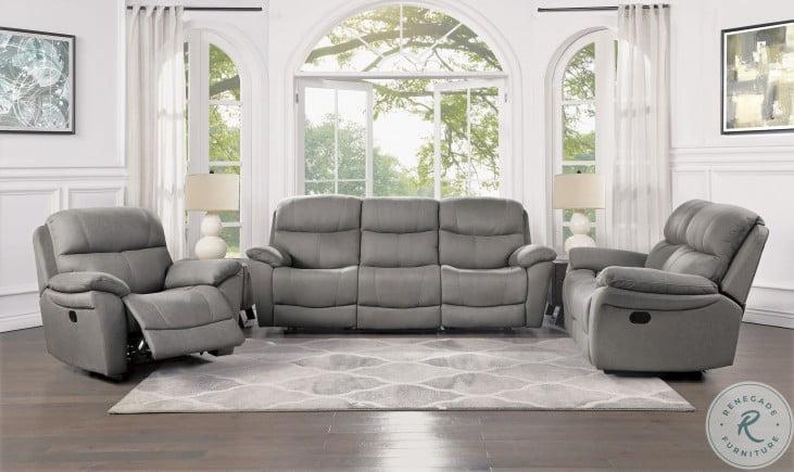Longvale Gray Double Reclining Living Room Set