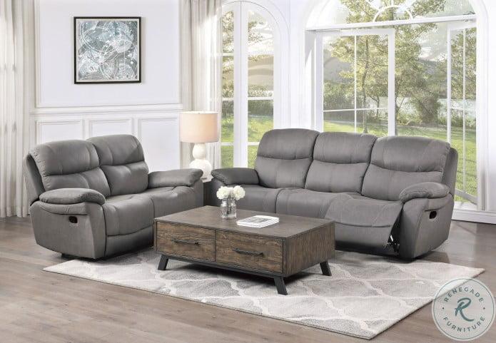 Longvale Gray Double Reclining Sofa