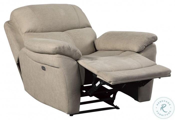 Longvale Tan Power Recliner With Power Headrest