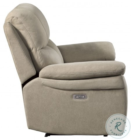Longvale Tan Power Double Reclining Living Room Set With Power Headrest