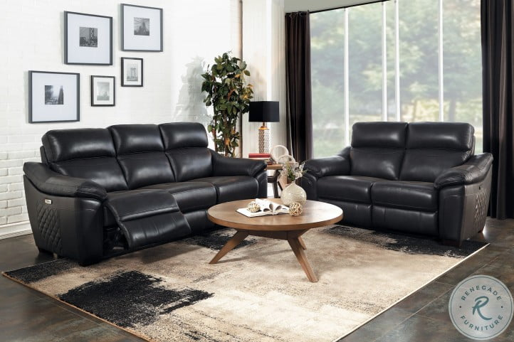 Renzo Dark Gray Power Double Reclining Sofa
