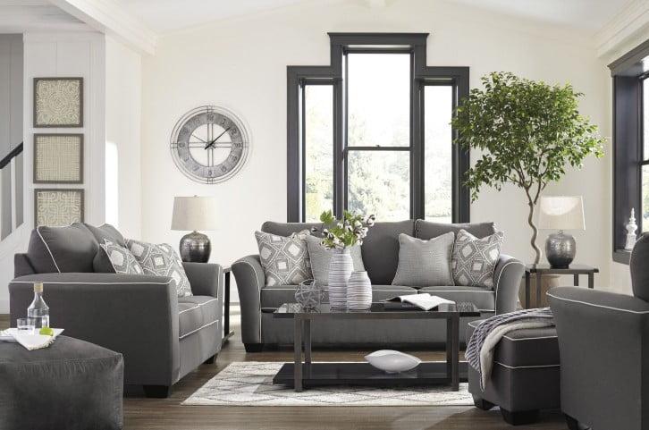 Domani Charcoal Living Room Set