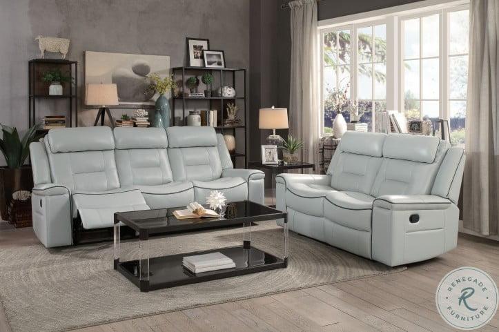 Darwan Light Gray Double Lay Flat Reclining Sofa