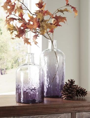 Maleah Purple Vase Set Of 2