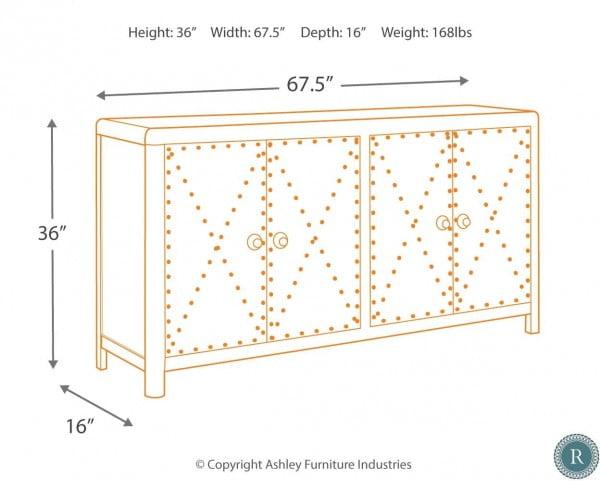 Rock Ridge Aged Steel Large Door Accent Cabinet
