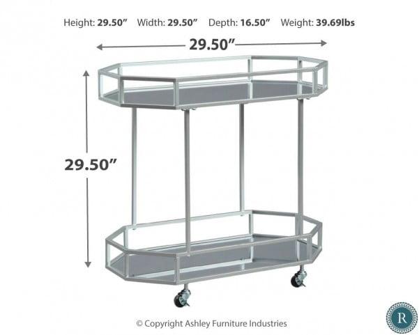 Kadinburg Silver Bar Cart