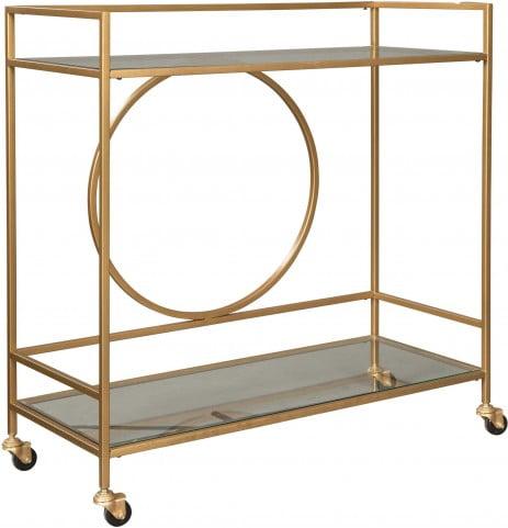 Jackford Antique Gold Bar Cart