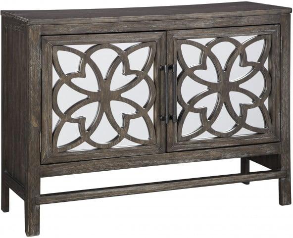 Alvaton Antique Brown Accent Cabinet