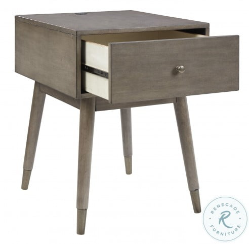 Paulrich Antique Gray Accent Table