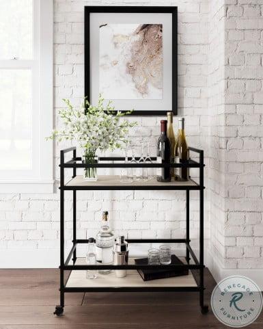 Waylowe Black and Tan Bar Cart